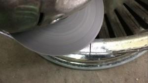 Фото 1 - шлифовка пропила - подготовка к аргонной сварке диска