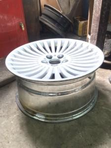 Фото 5 - готовый диск после ремонта. Данный диск можно не красить, т.к. ремонтировалась внутренняя часть.